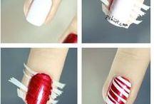 Makeup, nails,