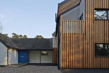 Modern Timber Clad House Extension in Chandlers Ford / Modern Timber Extension to an existing Arts & Crafts Property.