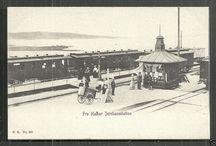 Jernbanestasjon Norge- Train stations Norway