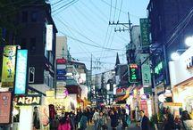 The shopping street in Ewha. Clothes are pocket friendly due to students studying in Uni. #ladyredotinseoul #planner #travel #travelgram #explore #explorer #korea #ewha