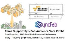 Amazon SF Popup Startup Pitch & Halloween Party / Come Cheer @syncfab v1.5 Demo Pitch at AWS San Francisco Pop Up Loft Startup Pitch and Halloween Party Thursday October 29 at 925 Market Street! Audience Decides! #aws #awsactivate #popup #startup #pitch and #halloween #bash #audiencevotes #hardware #designers #engineers #inventors #entrepreneurs #designlocal #makelocal #kickstarter #indiegogo #local #supplychain