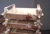 cassetta legno decorata