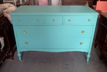 Painted Dressers Vintage Shabby Chic, Bureau / Here are pictures of past projects done at our warehouse. These pictures are for reference and are no longer available for sale. Please see our unfinished furniture board and pick out something for us to paint for you or bring us something and share your ideas. / by handpaintedfurniture