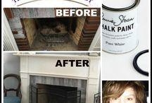 Chalk Paint® on Fireplaces / Check with your Fire Marshall or Code Enforcement Officer regarding code in your area about painting your fireplace/surround...it can vary by city/state / by The Purple Painted Lady ~ Tricia Kuntz