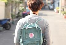 Elliot / sleeping in, long walks, textbooks, beige, grey, light blue, green