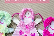 Doll Theme- Weekly Home Preschool / Homeschool preschool ideas for a doll theme.  Crafts, pretend play, math, fine motor, gross motor, book lists, printables, and more!