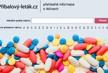 Léčiva / Léčiva prodávaná v ČR, jejich příbalové letáky a další informace jsou na webu www.pribalovy-letak.cz