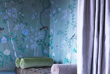 Wallpaper, murals and painted ceilings