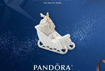 Pandora xmas ornaments & charms