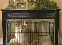 Dog Crate Bedside Table ideas