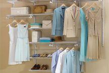 closet organizing  / by Amina McCabe