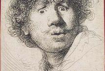 Rembrandt. Autoportrait.