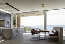 AKD MOSMAN HOUSE / The brief was to soften the interiors of this masculine, concrete home by adding warmth and sophisticated touches. We played with the contrasts of the raw architectural elements and the addition of luxurious finishes.