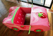 Auto basteln aus Karton