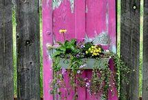 deur in tuin