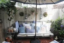 Balcony iron bed