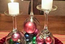 Wine Glass Candleholders