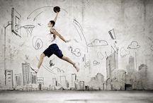 Tableaux sportifs / Tous les sports à l'honneur : basket, rugby, foot, tennis, danse, golf...