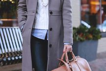 saco gris largo