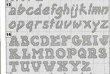 letras punto de cruz