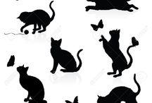 cat silhouettte