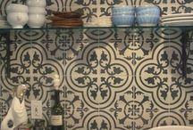 tiles & wainscoting & concrete stenciling