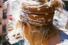 Hippie rock style