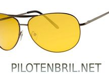 Pilotenbril gele glazen