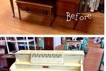 Piano Paint Ideas / by Jennifer Jones