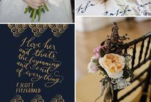 Blue and Gold Wedding