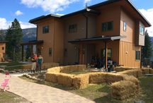 K-F Straw Bale Gardens / The Kopas-Flynn Family lives in Heddlestone Village, a Cohousing Community in Nelson BC. This year several of us are going for it with straw bale gardens. This is a photo history