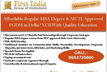 MBA from INDIA / here are many business schools in India offering two-year MBA programs accredited by AICTE or UGC. The students are a mix of fresh graduates as well as with experience and get either at public or private schools depending on entrance examinations. Typically programs offer full-time, part-time and executive education programs. The premier institutes in India the IIMs offer the prestigious PGDM instead.