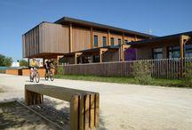 école préfabrication bois