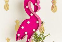 Decoração: Flamingos