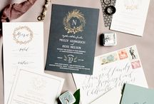 Wedding stationary / wedding invitations, save the date cards and envelopes, table settings, table plans, wedding menus