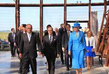 Cérémonie Danoise - 6 juin 2014 / Le musée d'Utah Beach à accueilli Sa Majesté Margrethe II, Reine du Danemark et le ministre français de l'intérieur Bernard Cazeneuve. A cette occasion ils ont visité l'exposition à la mémoire des 800 marins danois qui ont participé au débarquement sur les plages normandes.