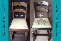 Stencil Projects / Visit our website www.simplyspring.com for a whole line of home decor stencils!
