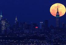 i n t o  t h e  n i g h t / nightfall | moon | stars  / by e u n i c e
