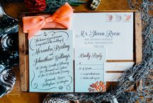 Colorful Nautical Wedding Inspiration / Bright colors, tropical flowers, and gold accents complete this bridal wedding inspiration styled shoot photographed by Katheryn Moran Photography