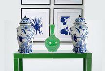 Casa Pavone / Peacock colored decorating ideas