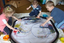 Creative: Sensory Play / Ideas for our tuff spot tray