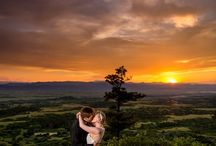 Wedding Day Sunset Portraits