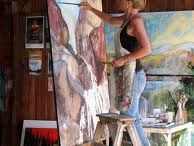 Studio Space - Inside & Out / Places that I paint in.