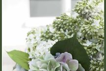 Spring has sprung !! / Fresh, crisp, linen accented with lush green
