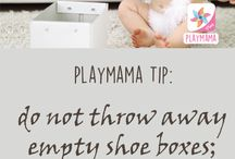 Parenting Tips from PlayMama App / Learning activities to play and develop your kids from newborn babies to 4 year olds