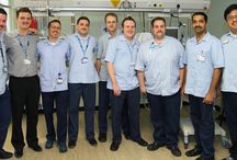 """Movember 2013 - """"Glenfield's Mo Bros"""" / The team from the Adult Intensive Care Unit at Glenfield Hospital have been busy cultivating an assortment of moustaches in support of Movember 2013."""