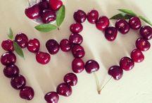 Fruit decorations. / Fruit decorations.