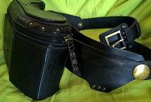 Leather utility belts / Leather utility belts, hip bags