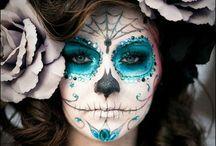 teschio messicano make up