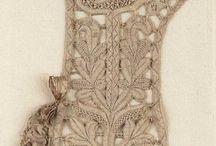 antique lace, misc textiles